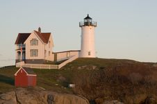 Free Nubble Lighthouse Royalty Free Stock Photos - 3839318