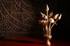 Golden Lotus Royalty Free Stock Photography