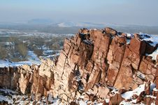 Free Rock In The Winter Stock Photography - 3839402