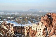 Free Rock In The Winter Royalty Free Stock Images - 3839449