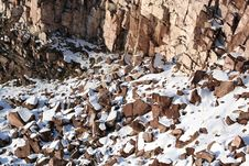 Free Stones Covered Snow Royalty Free Stock Photos - 3839558