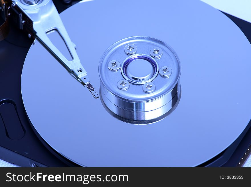 Hard disk detail with