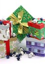 Free Christmas Gift Boxes With Christmas Ornaments Stock Photos - 3840913