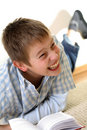 Free Boy Learning On The Floor Stock Photo - 3841470