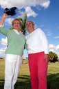 Free Senior Friends Taking Photo Stock Photos - 3841653