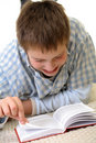 Free Boy Learning On The Floor Royalty Free Stock Image - 3841736