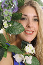 Free Woman In Flowers Stock Image - 3842301