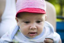 Free Cute Baby Wearing Cap Stock Image - 3840911