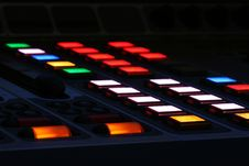 Free LCD Buttons On Mix Console Stock Photography - 3840982
