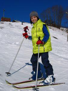 Free Boy Skier Stock Photo - 3841590