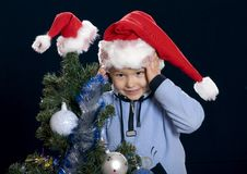 Free Boy On The Christmas Holiday Royalty Free Stock Photo - 3841755