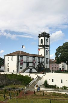 Free Town  Hall, Azores Royalty Free Stock Images - 3842029