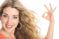 Free Gorgeous Blonde Ok Royalty Free Stock Images - 3842049