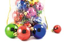 Free Colored Christmas Balls Stock Photography - 3842092