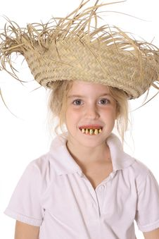 Free Silly Child With Rotten Teeth Stock Image - 3842111