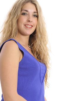 Free Blonde Woman In Blue Royalty Free Stock Image - 3842276