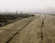 Tire Tracks On A Dirt Road Royalty Free Stock Images