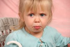 Adorable Pouting Child Stock Images
