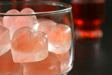 Heart Ice Cubes Stock Image