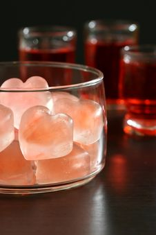 Free Heart Shaped Ice Cubes Stock Images - 3842744