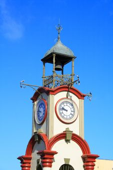 Free Clock Tower In Small Town Royalty Free Stock Images - 3843099
