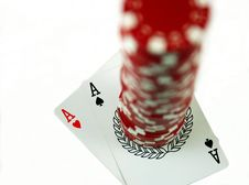 Free Pair Of Aces Royalty Free Stock Photos - 3843428