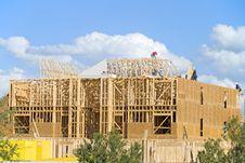 Free Three Story Construction Royalty Free Stock Photos - 3843508