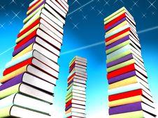 Free 3d Colored Books Massive For Design Stock Image - 3844911