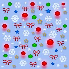 Free Christmas Gift Bag Royalty Free Stock Image - 3845796