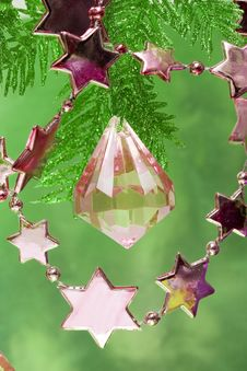 Free Pink New-year Stars Stock Images - 3845854