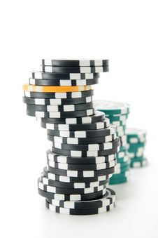 Free Stack Of Casino Chips Stock Photo - 3845920