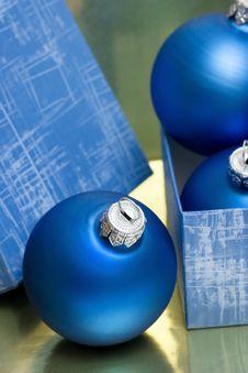 Christmas Balls In Gift Box Royalty Free Stock Image