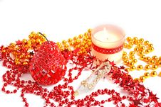 Free Christmas Candle Royalty Free Stock Photography - 3846287