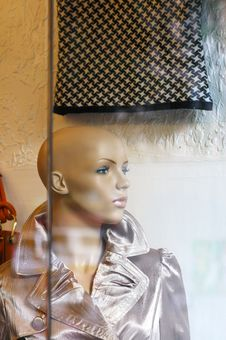 Free A Model In A Shop Window Stock Photography - 3846822