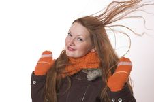 Free Woman In Winter Clothes Royalty Free Stock Photo - 3847485