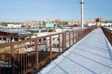 Free Bridge Over Railroad Royalty Free Stock Image - 3848086
