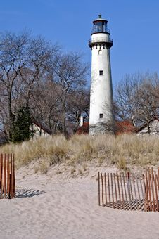 Grosse Point Lighthouse Royalty Free Stock Images