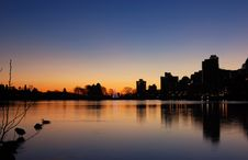 Sunrise At Lost Lagoon Stock Photography