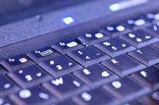 Free Blue Keyboard Royalty Free Stock Photos - 3848728