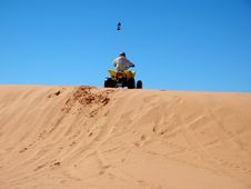 Rider On The Dunes Royalty Free Stock Image