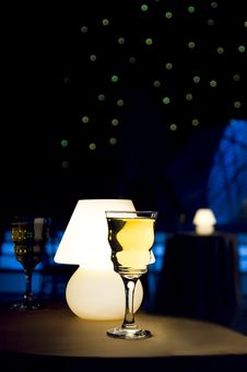 Wine Glass And Lamp Royalty Free Stock Image