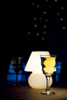 Free Wine Glass And Lamp Stock Images - 3849654