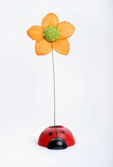 Free Artificial Flower With Ladybug Stock Photos - 3849853