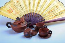 Free Chinas Tea Utensils Purple Sand Pot Royalty Free Stock Photo - 38400235