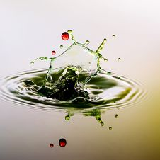 Free Color Waterdrops Collide Each Other Stock Image - 38401051