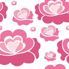 Free Pink Roses Pattern Royalty Free Stock Photo - 38437225