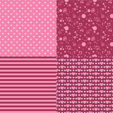 Free Set Of Romantic Patterns Stock Image - 38494001