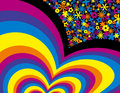 Free Flower Rainbow Background Stock Photography - 3851062