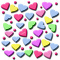 Free Candy Hearts Gift Bag Stock Photo - 3856140