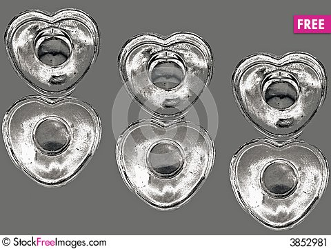 Free Silver Hearts Stock Image - 3852981